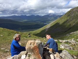 Climbing Ben Doran